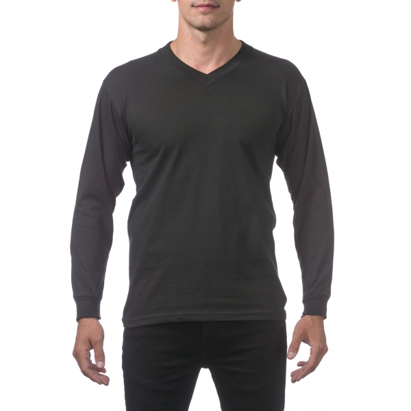 Pro Club Men's Comfort Long Sleeve V-Neck Tee