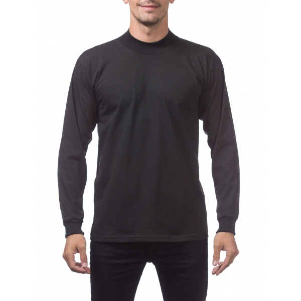 Pro Club Men's Mock Turtle Long Sleeve Tee
