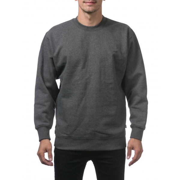 Pro Club Men's Plain Blank Crew Neck Fleece Pullover Sweater (9oz)