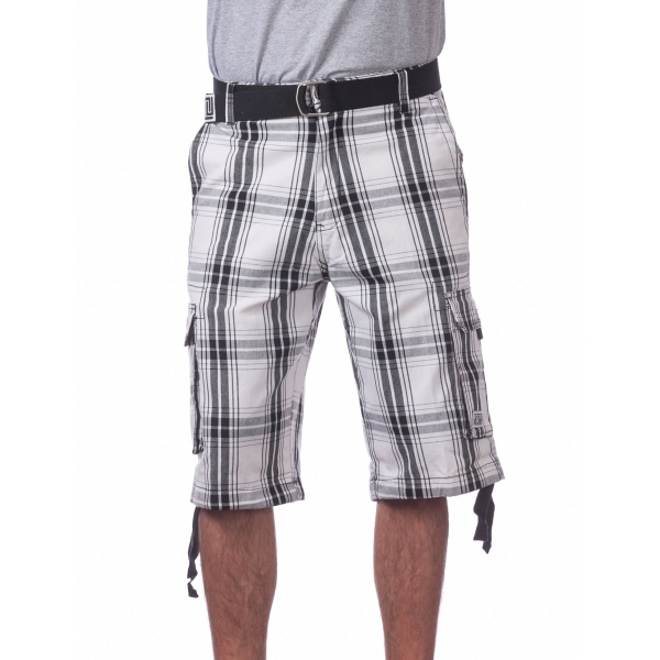 Pro Club Men's Cotton Twill Cargo Shorts With Belt